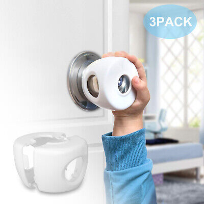 3x Children Baby Safety Lock Door Knob Cover Child Proof Safe Kids Toddler Guard
