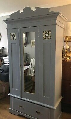 Vintage Pine Wardrobe / Armoire + Bedside Cabinets !