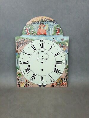 Reproduction Hand Painted Longcase Grandfather Clock Face Queens Golden Jubilee
