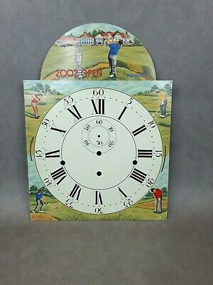 Reproduction Longcase Grandfather Clock Face Hand Painted with 2002 Golf Open