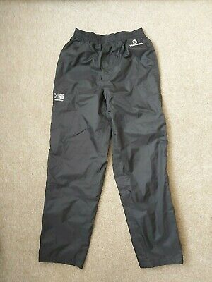 VGC Boy Girl Unisex Karrimor Black Weathertite Trousers Age 11-12