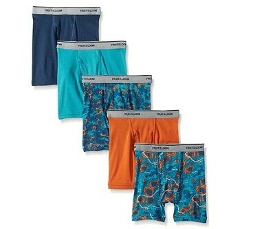 5pk or 8pk Fruit of the Loom Boys Boxer Briefs Covered Waistband