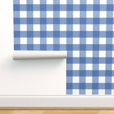 Green and Blue Plaid on White Wallpaper by Sunworthy   41285410