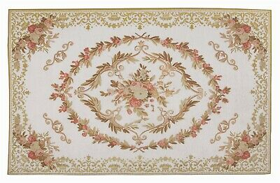 Victorian Trading Co Enchanted Aubusson Kitchen Cream Mat Rug