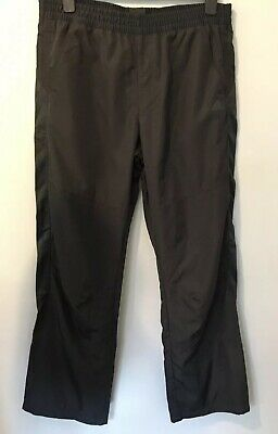 ADIDAS MENS BLACK SHELL SUIT TRACKSUIT BOTTOMS ~ Size Large