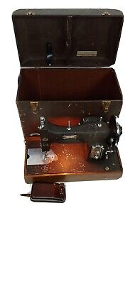 Vintage 1940s Domestic Rotary Electric Sewing Machine Series 153 Case Manual Att