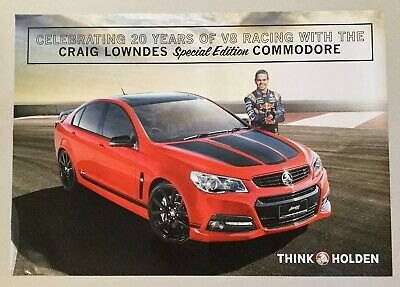 Holden Commodore Craig Lowndes Special Edition Large Dealer Poster