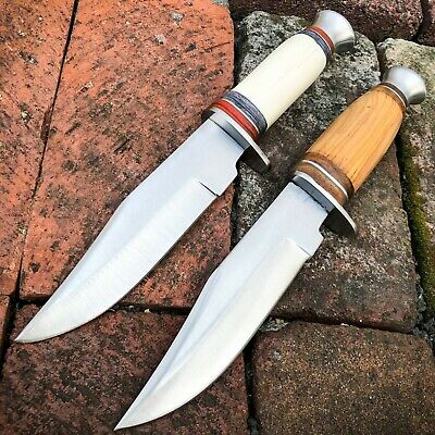 "10"" Hunting Survival Skinning Fixed Blade Military Bowie Camping Knife w/ Sheath"