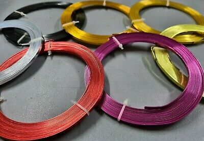 Florist Wire Flat Colored Coated gauge /Please Choose Qty and Colour
