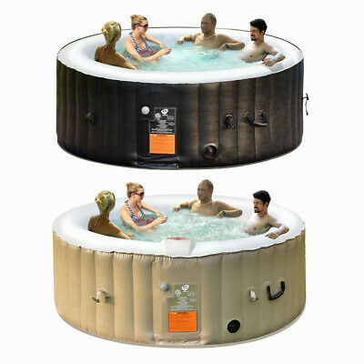 Inflatable Bubble Massage Spa Portable Pool Hot Tub Outdoor 4 People Relaxing
