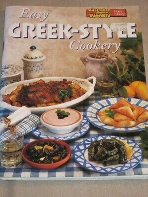 Womens Weekly Cookbook Cooking Recipes  Easy Greek Style Cookery Chef