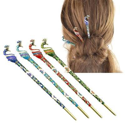 Classical Ethnic Chinese Peacock Casual Hair Stick Ladies Hair Jewelry
