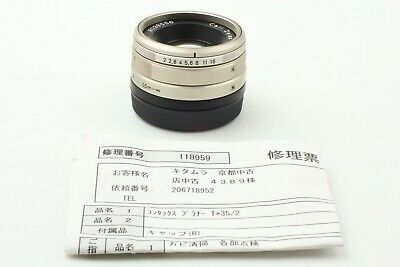 【CLA'd MINT】 CARL ZEISS Planar 35mm f/2 T* Lens for Contax G1 G2 from JAPAN #776