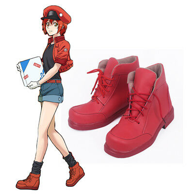 Erythrocyte Red Blood Cell Boots Shoes Cells At Work Comic Con Girl Anime Cos