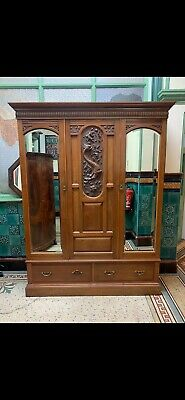 Lovely Quality Late Victorian Mahogany Wardrobe