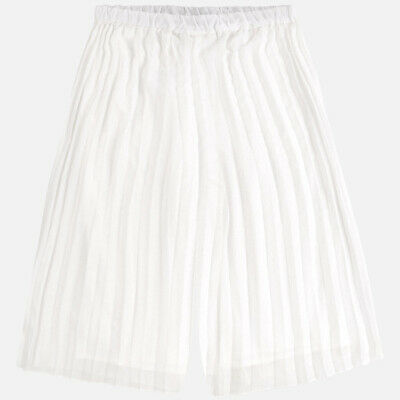 New Girls Mayoral Pleated Chiffon Skirted Trousers, Age 8 Years , (6955)