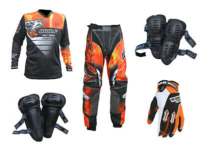 Adult MX Wulf Wulfsport Quad 2020 FORTE Pant Shirt Armour Gloves Orange #A20