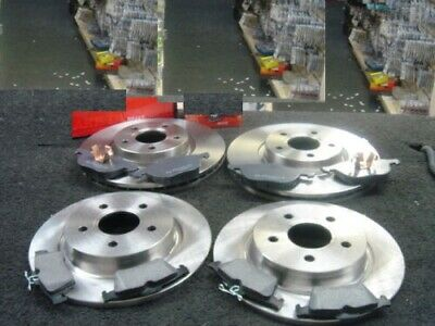 Volvo 850 2.0 94-97 Front Rear Brake Discs Black Dimpled Grooved Mintex Pads