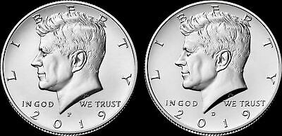 "2019 P&D Kennedy Half Dollar Clad US ""Brilliant Uncirculated"" (2 Coin Set)"