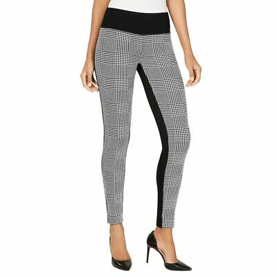 INC NEW Women's Black Houndstooth Contrast Pull-on Casual Pants 16 TEDO