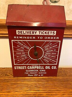 Rare Texaco Oil Delivery Ticket Order Box Street-Campbell Oil Co. Gladbrook, IA