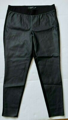 New Torrid Faux Leather Ponte Pull On Pant Leggings Skinny Black Plus Size 2 2X