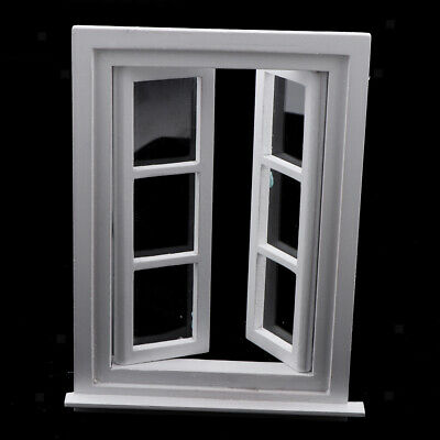 12 Pack 1//12 Mini White Window Frame Dollhouse Room Ornaments Role Playset