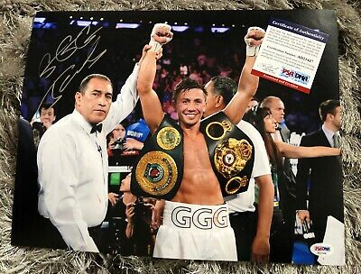 GGG GENNADY GOLOVKIN AUTOGRAPHED 11x14 SIGNED PHOTOGRAPH PSA/DNA Authentic COA