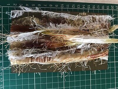 Assorted Mixed Fibres Art Yarn bundle For Crafting Junk Journal Shabby Chic Tags