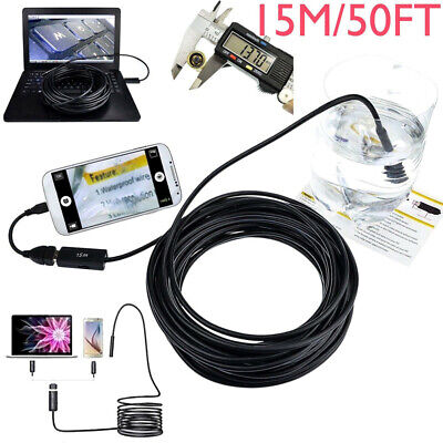 Pipe-Inspection Camera Endoscope Video 15m/50 Ft Sewer Drain-Cleaner Waterproof