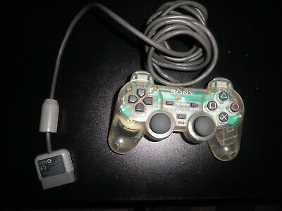 sony playstation 2 official dualshock controller clear transparent - tested