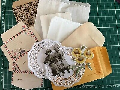 Junk Journal Essentials Paper Bags Coin Envelope Mini Envelope Paper Doily