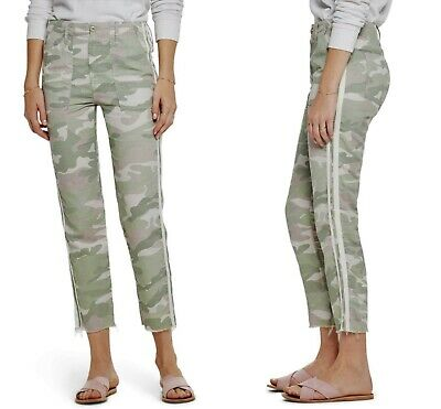 MOTHER Denim Women's The Shaker Chop Crop Fray Camo Pants Size 26