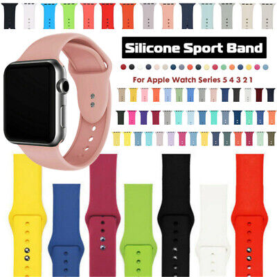 Silicone Sports Replacement Strap Belt Watch Band For Apple iWatch 38/40/42/44mm