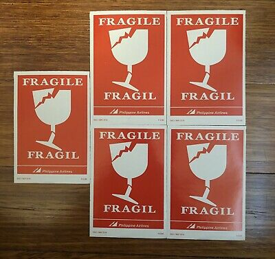 PAL Phillipine Airlines PR Fragile Stickers