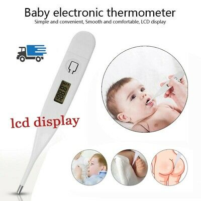 Medical 3-Ways Digital LCD Safe Thermometer Baby Oral Adult Body Temperature US