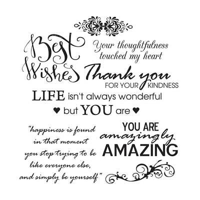 Ultimate Crafts Stamp Set Thoughtful Wishes