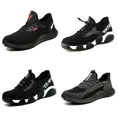 Mens Lightweight Safety Trainers Shoes Women Work Boots Steel Toe Cap Composite