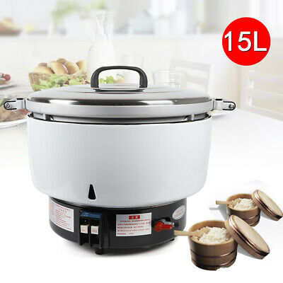 15L Commercial Natral Gas Rice Cooker Restaurant 9.5KW 75 Cups For 80 people New