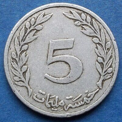 TUNISIA - 5 millim 1960 KM# 282 Republic since 1957 - Edelweiss Coins .