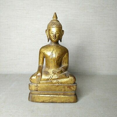 Antique Thai Wooden Buddha, 18th-19th century.