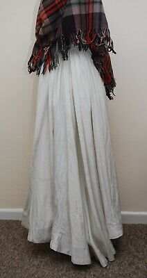 Lovely Antique Victorian Skirt White Metallic Thread Full Skirt For Some Repairs