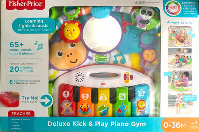 Fisher-Price Deluxe Kick 'n Play Piano Gym, FGG45, NEW Open Box