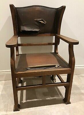 VINTAGE Rare Original Arts and Crafts Oak Chair Liberty Style for recovering
