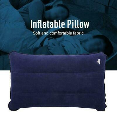 Blue Inflatable Pillow Camping Travel Soft Pillow R4Z4