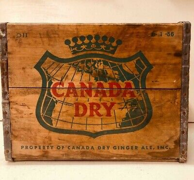 Vintage Canada Dry Wooden Crate Box
