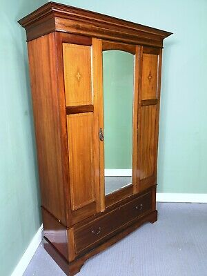 An Antique Edwardian Mahogany Wardrobe ~Delivery Available~
