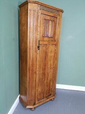 An Antique Old Charm Style Oak Hall Wardrobe ~Delivery Available~