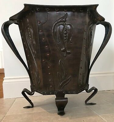 Antique Arts and Crafts JOHN PEARSON Copper Planter - Newlyn Guild of Handicraft