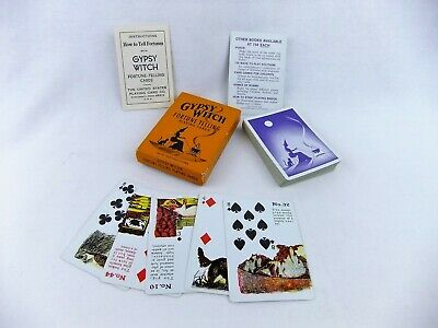 Vintage Gypsy Witch Fortune Telling Playing Cards Set Complete